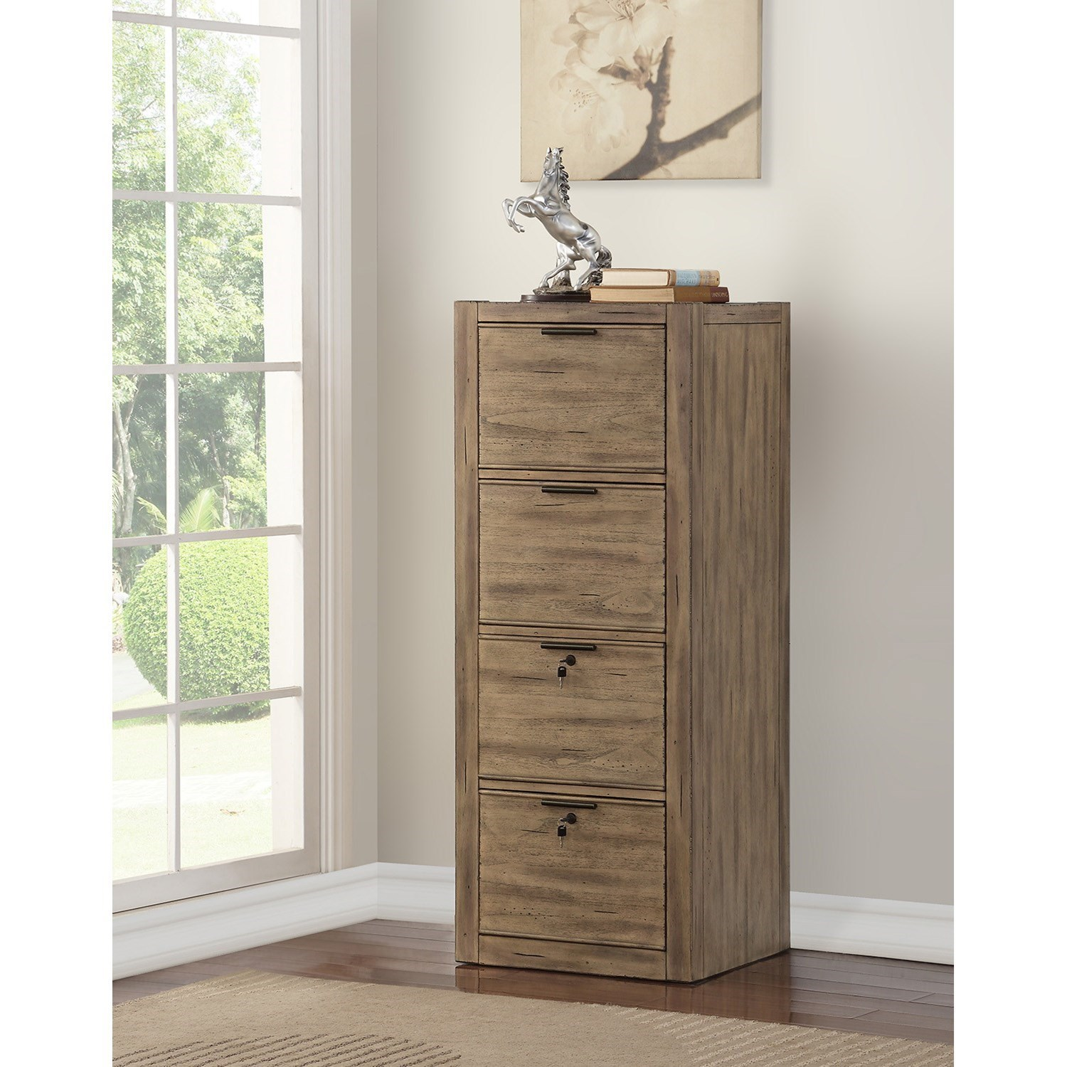 Parker House Brighton Contemporary Tall File Cabinet With 2