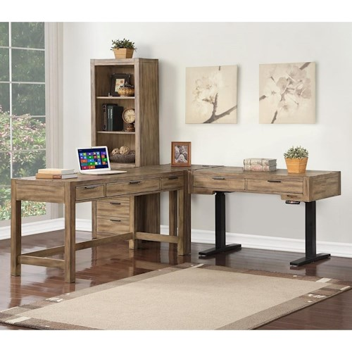 Parker House Brighton Contemporary 3 Pc L-Shaped Desk with a Power Standing Desk
