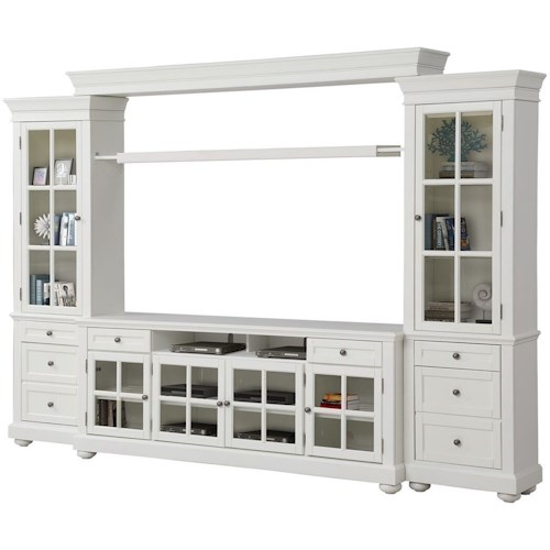 Parker House Cape Cod Cottage 3 Piece Entertainment Wall