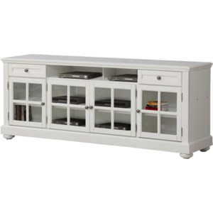 Parker House Cape Cod Pah Cap 76 Cottage 76 Inch Tv Console With Glass Doors Hudson S Furniture Tv Stands