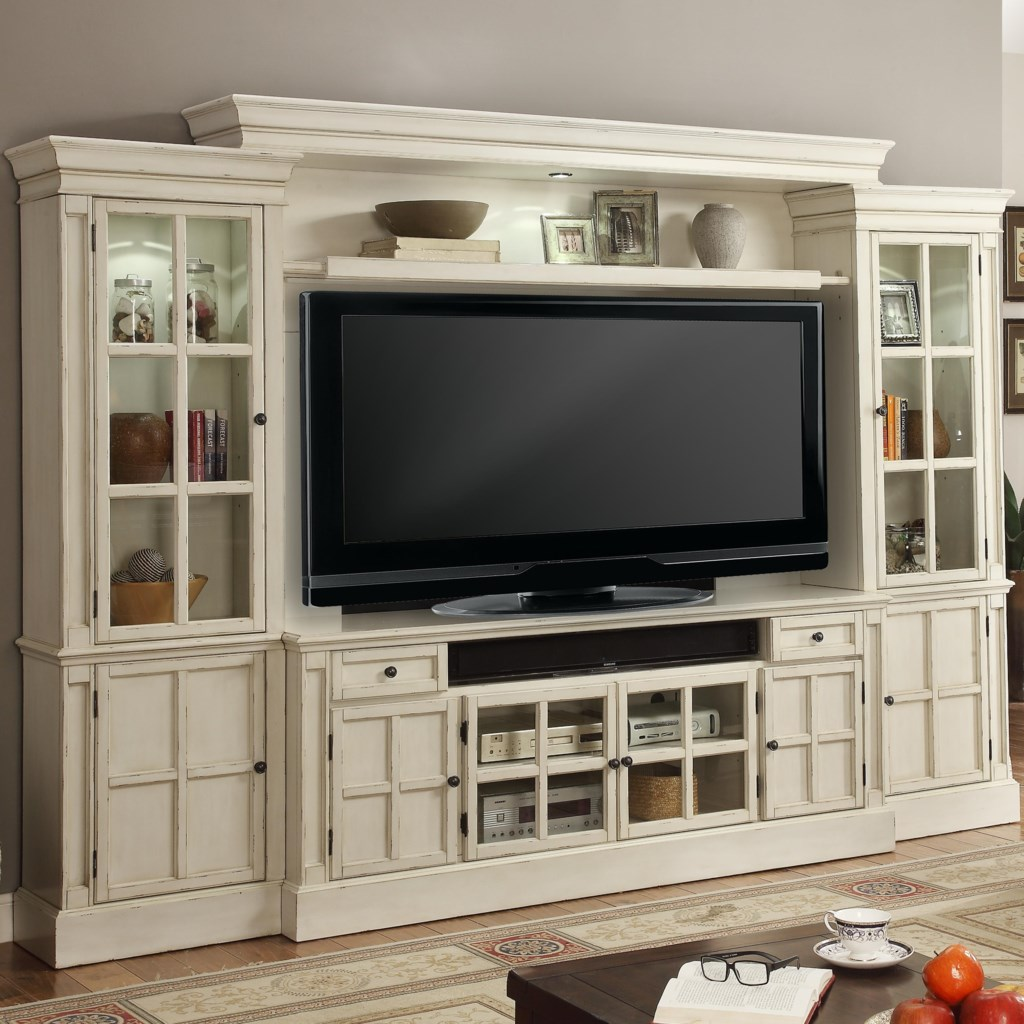 Parker House Charlotte 72 Console Entertainment Wall With Eight