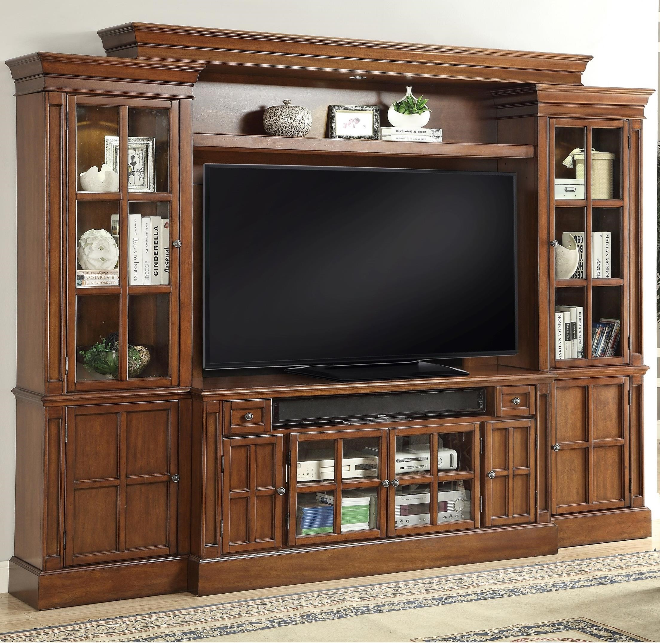 Parker House Churchill 4 Piece Entertainment Wall With 62