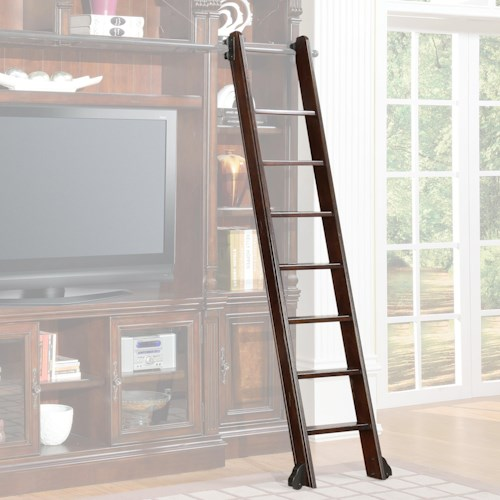 Parker House Corsica Library Ladder with Casters