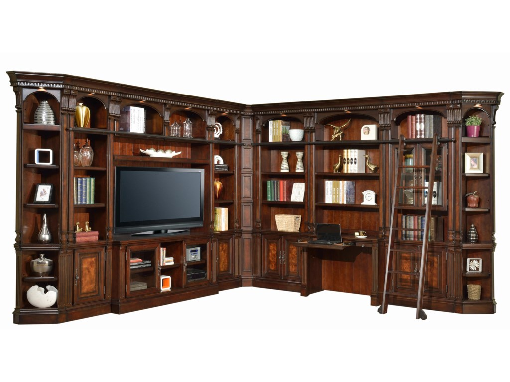 Parker House CorsicaLibrary Wall with Desk and 60