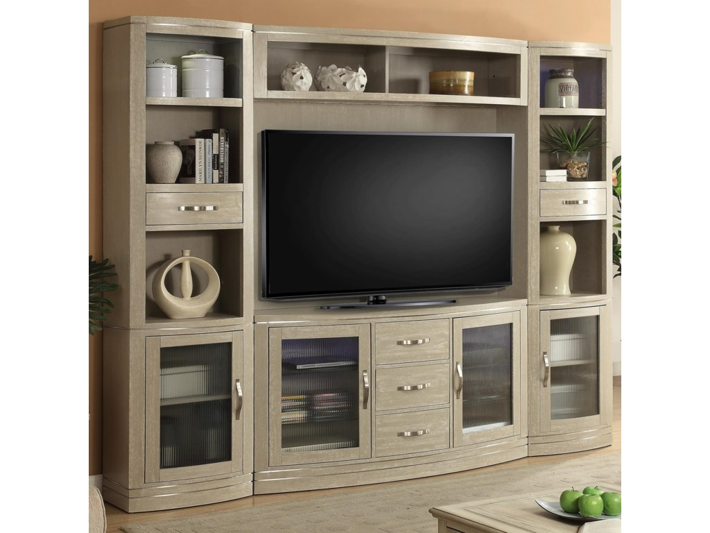 Parker House Cosmopolitan4 Piece Entertainment Wall