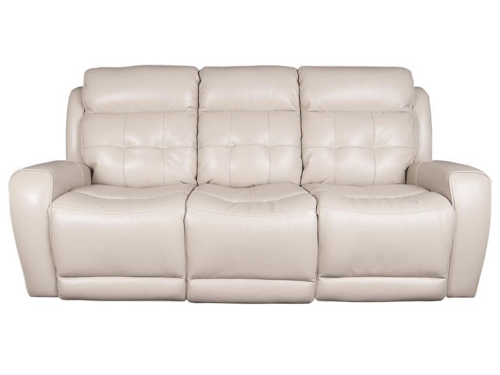 Dorsey Modern Leather Match Power Reclining Sofa with Power Headrest and  USB Ports by Parker Scott at Morris Home