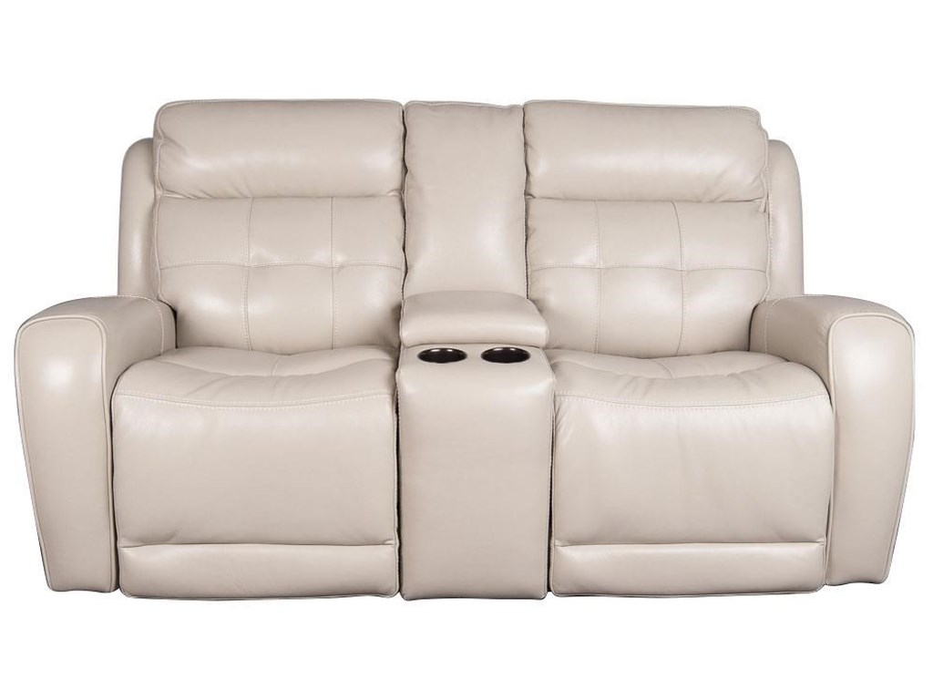 Dorsey modern leather match power loveseat with power headrest and usb ports by parker scott