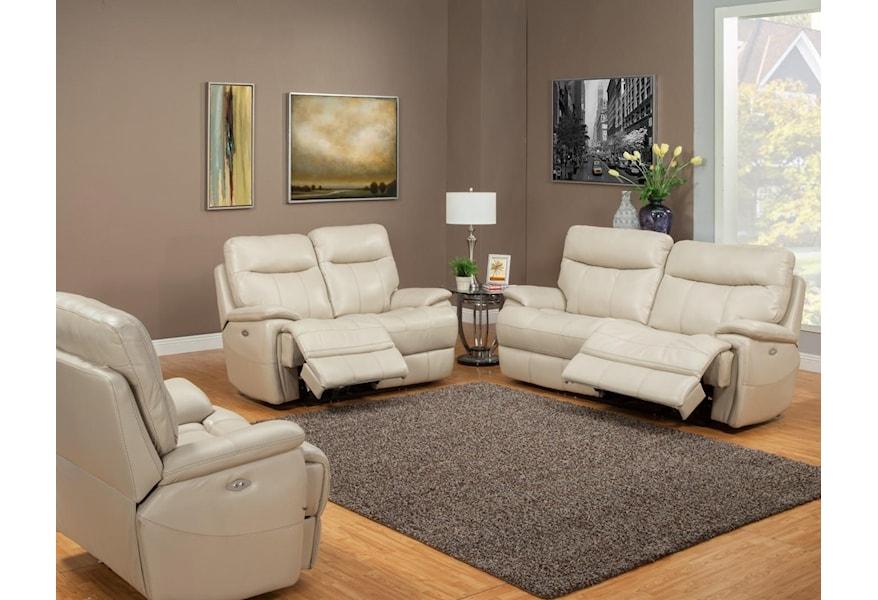 Dylan Creme Sofa Dual Recliner