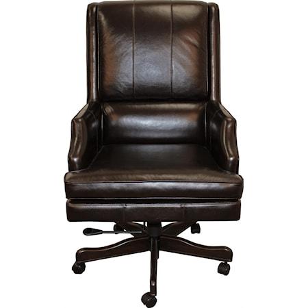Eaton Leather Desk Chair