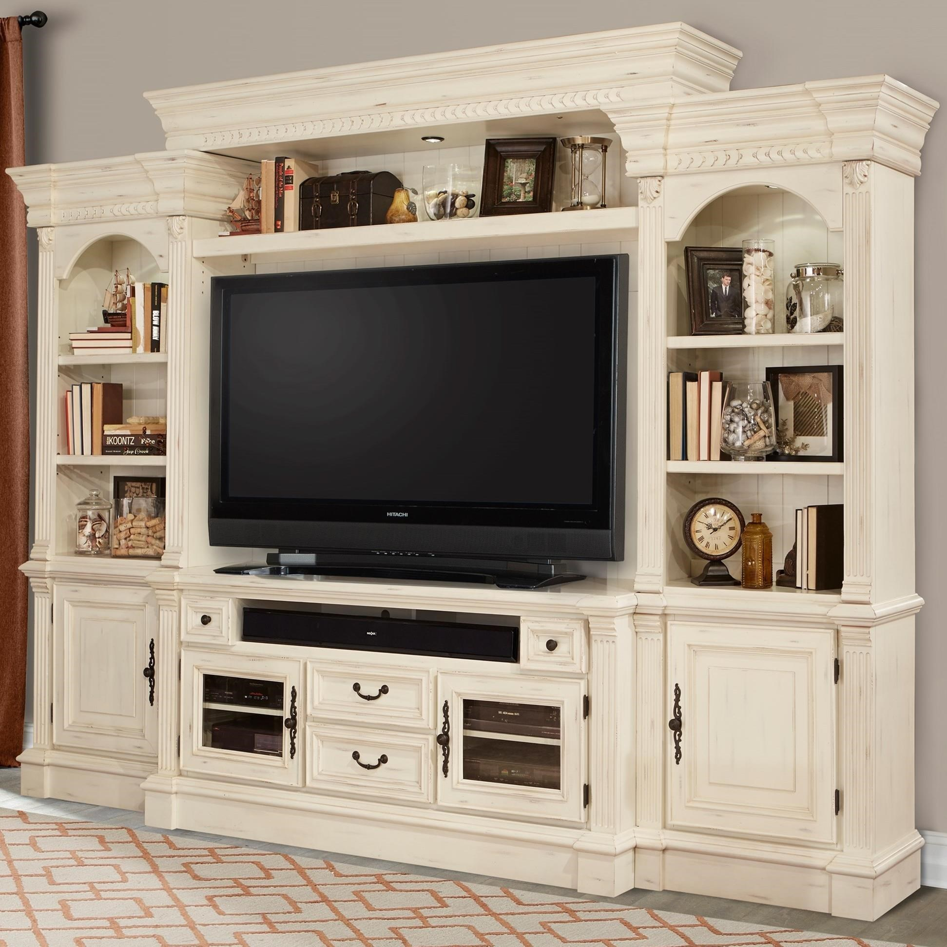 Exceptional Parker House Fremont 4 Piece Entertainment Wall With Pier Cabinets