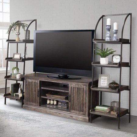 Retreat Console with Bookcase Piers