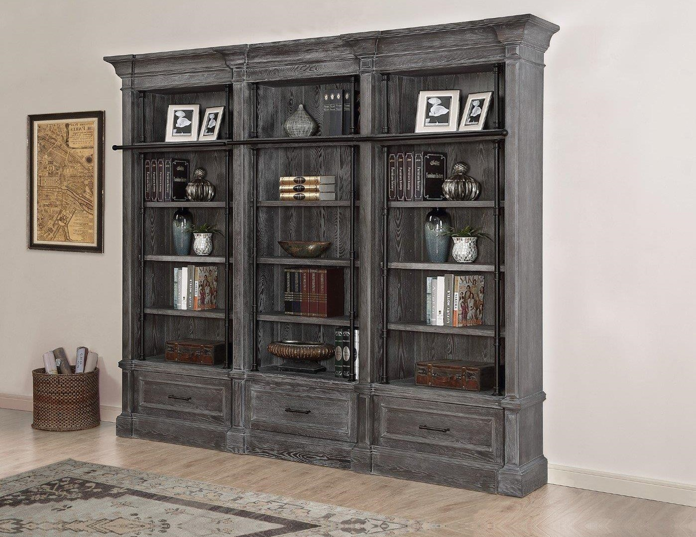 Gramercy Park 3 Pc Bookcase And Ladder Set