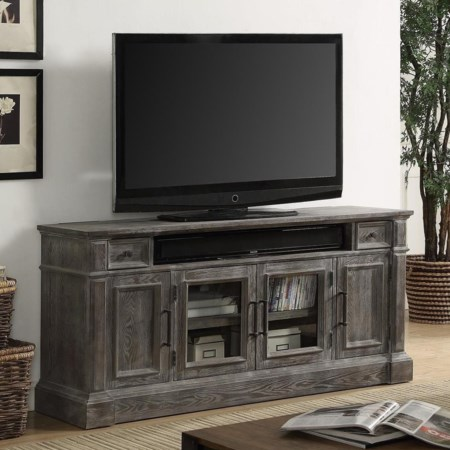"""65"""" TV Console with Power Center"""