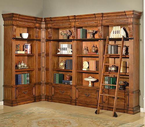Parker House Granada 6 Piece Museum Corner Bookcase Unit with Ladder