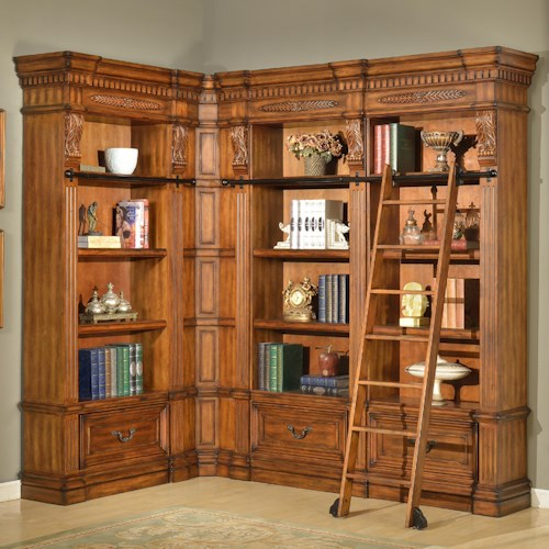 Parker House Granada 5 Piece Museum Bookcase Corner Wall Unit