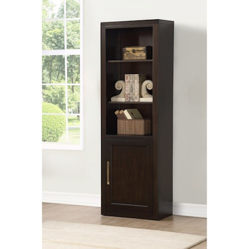 Parker House Greenwich Three Shelf Bookcase with Door