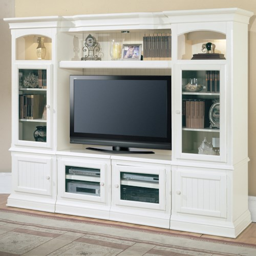 Parker House Hartford 4 Piece Entertainment Wall Unit | Wayside ...