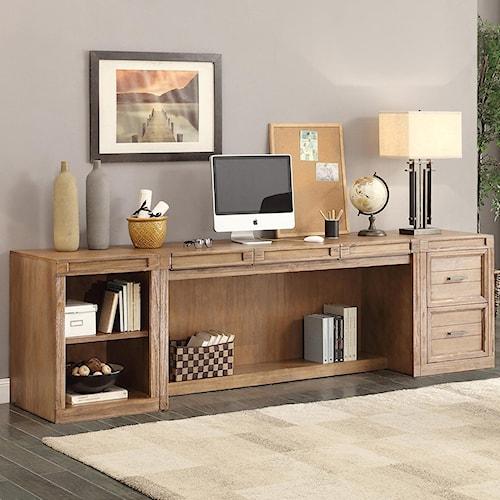 Parker House Hickory Creek 3 Piece Desk with Printer Storage
