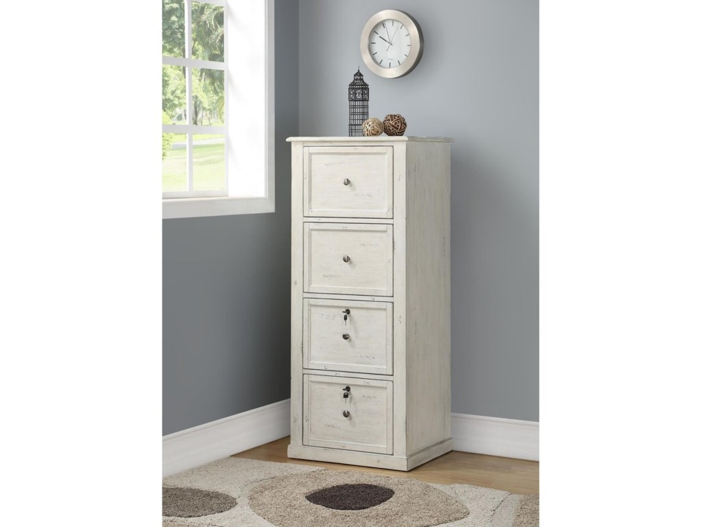 Parker House Hilton Tall 4 Drawer File Cabinet