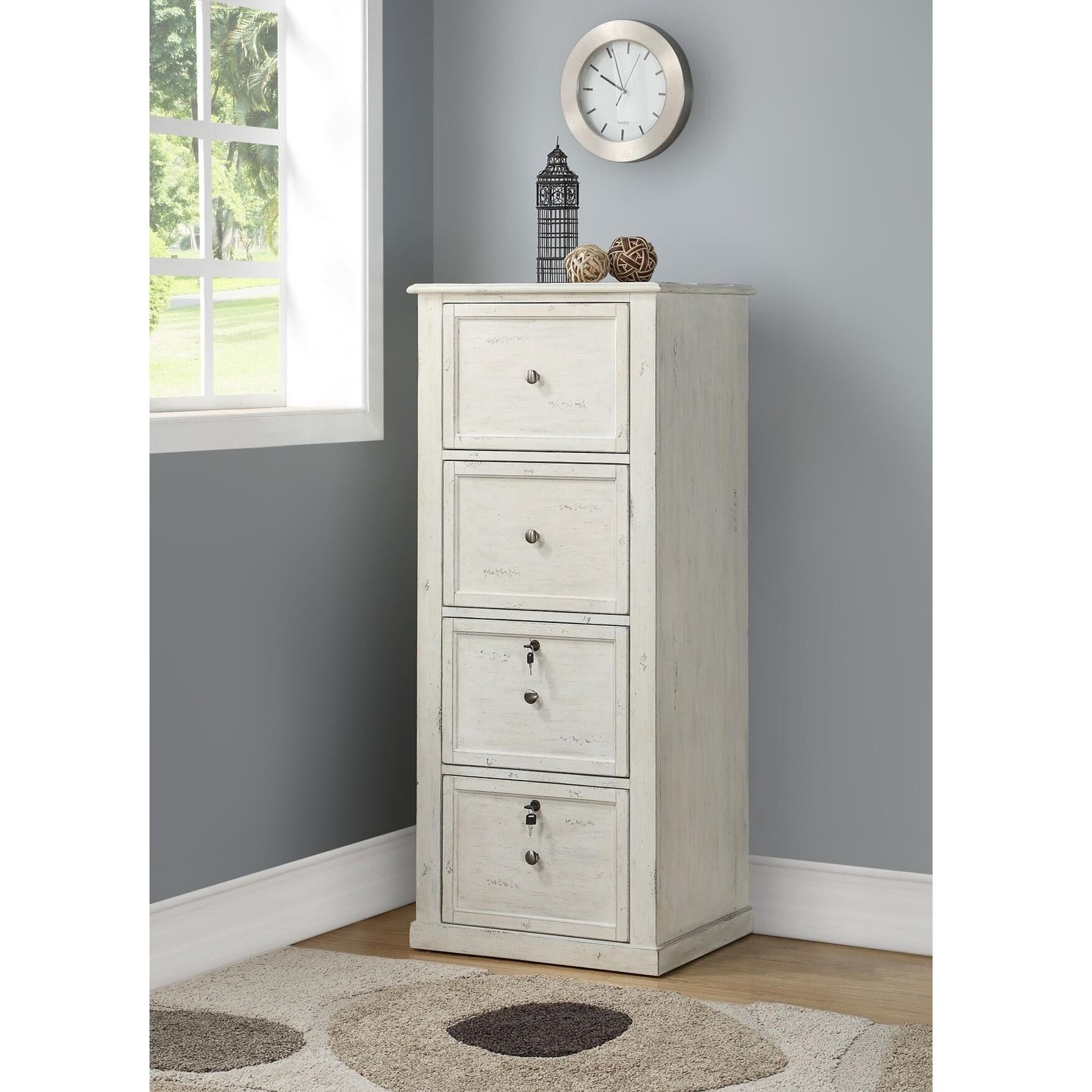 Superbe Parker House Hilton Tall 4 Drawer File Cabinet