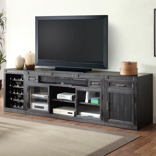 Parker House Hudson 3 Piece TV Console with Wine Bottle Storage