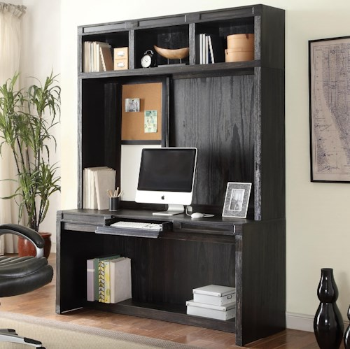 Parker House Hudson Desk and Hutch with Power Center and Open Shelving