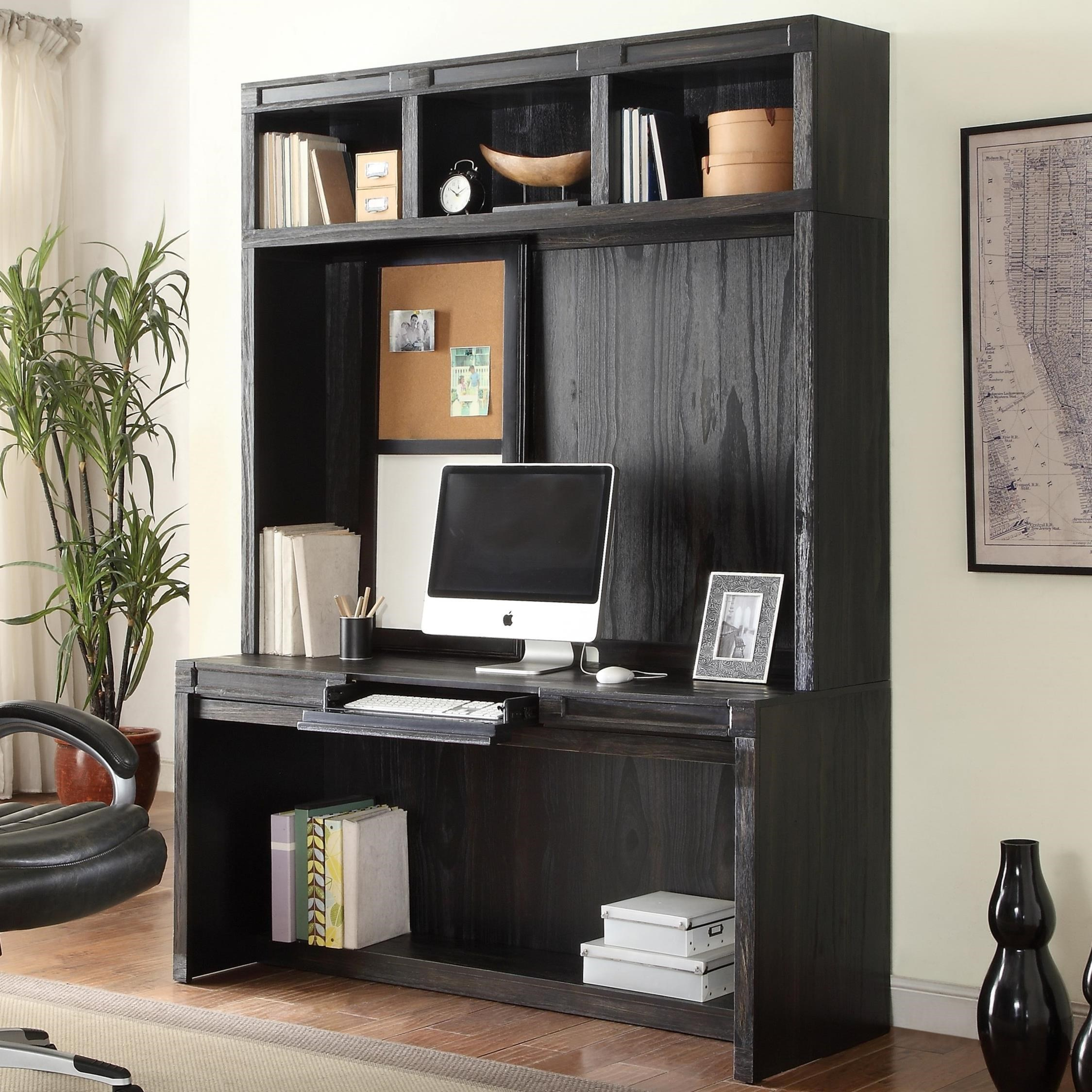 Ordinaire Parker House Hudson Desk And Hutch With Power Center And Open Shelving