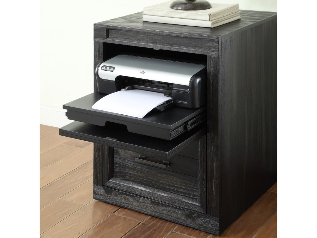 Hudson 21 Printer File Base With Flip Down Top Drawer Front By Parker House