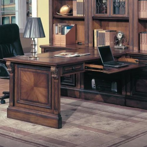 Parker House Huntington Peninsula Desk w/ Rollout Drawer