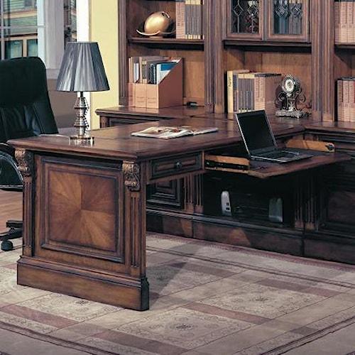 Parker House Huntington Peninsula Desk w/ Rollout Drawer
