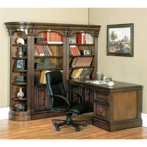 Parker House Huntington Corner Bookcase Wall and Desk Office Unit