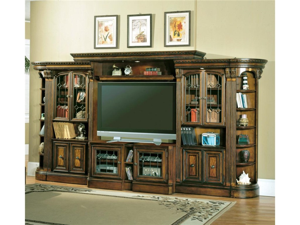 Parker House HuntingtonGlass Door Entertainment Wall Unit