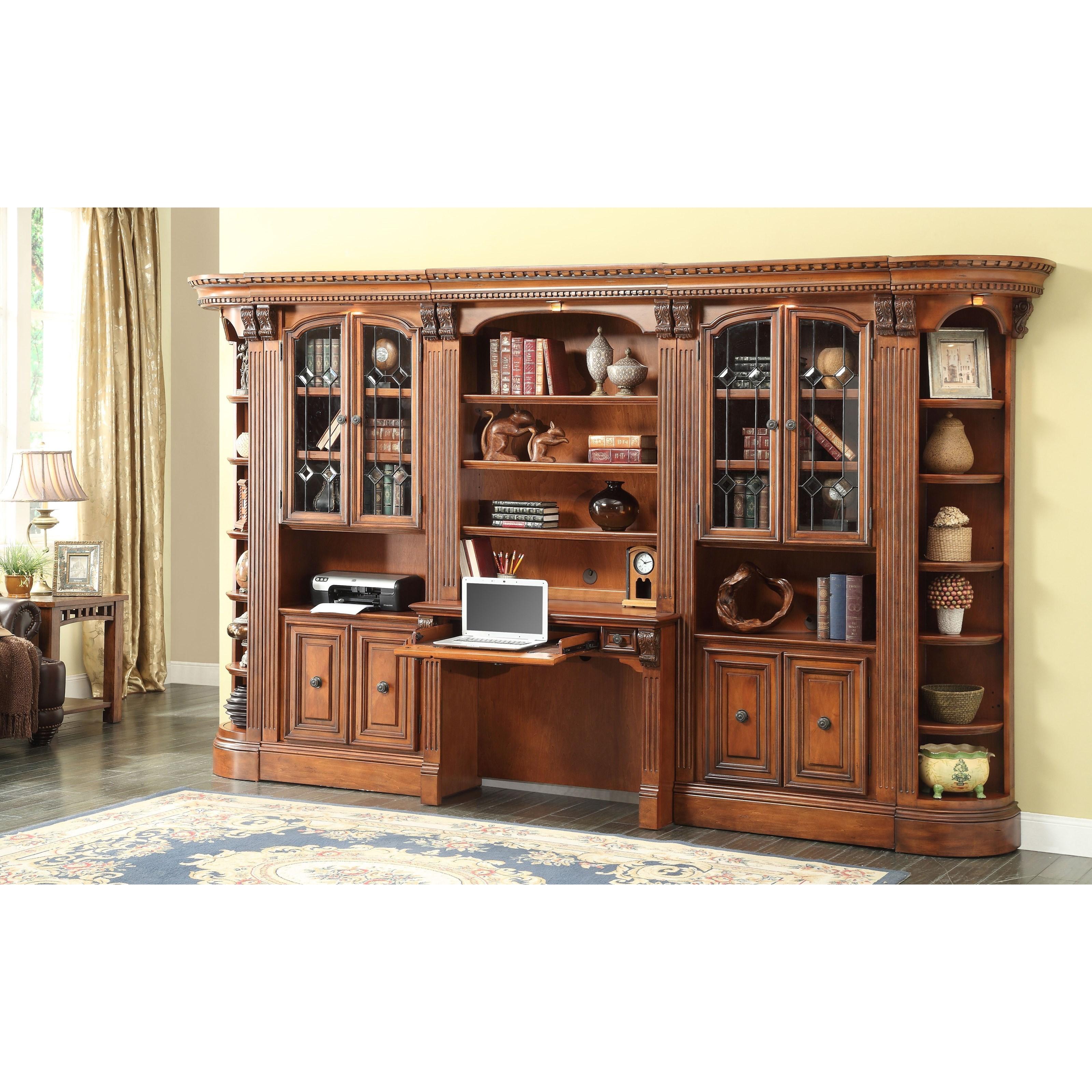 Parker House Huntington Large Bookcase Desk And Hutch