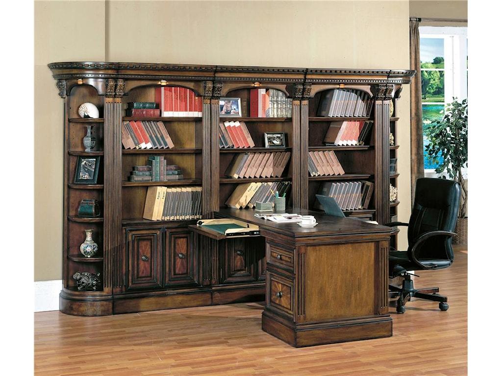 Parker House HuntingtonLarge Wall Peninsula Bookcase Desk