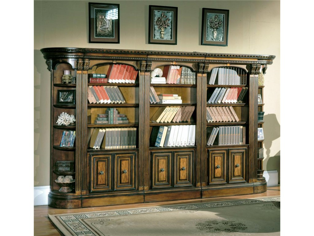 Parker House Huntington Small Wall Unit Bookcase Hudson S Furniture 2 Pc With Hutch