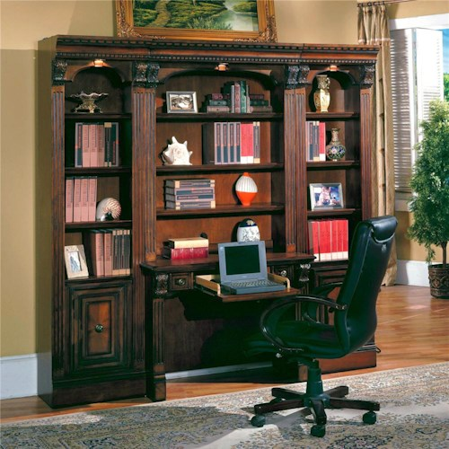 Parker House Huntington Small Bookcase Desk and Hutch