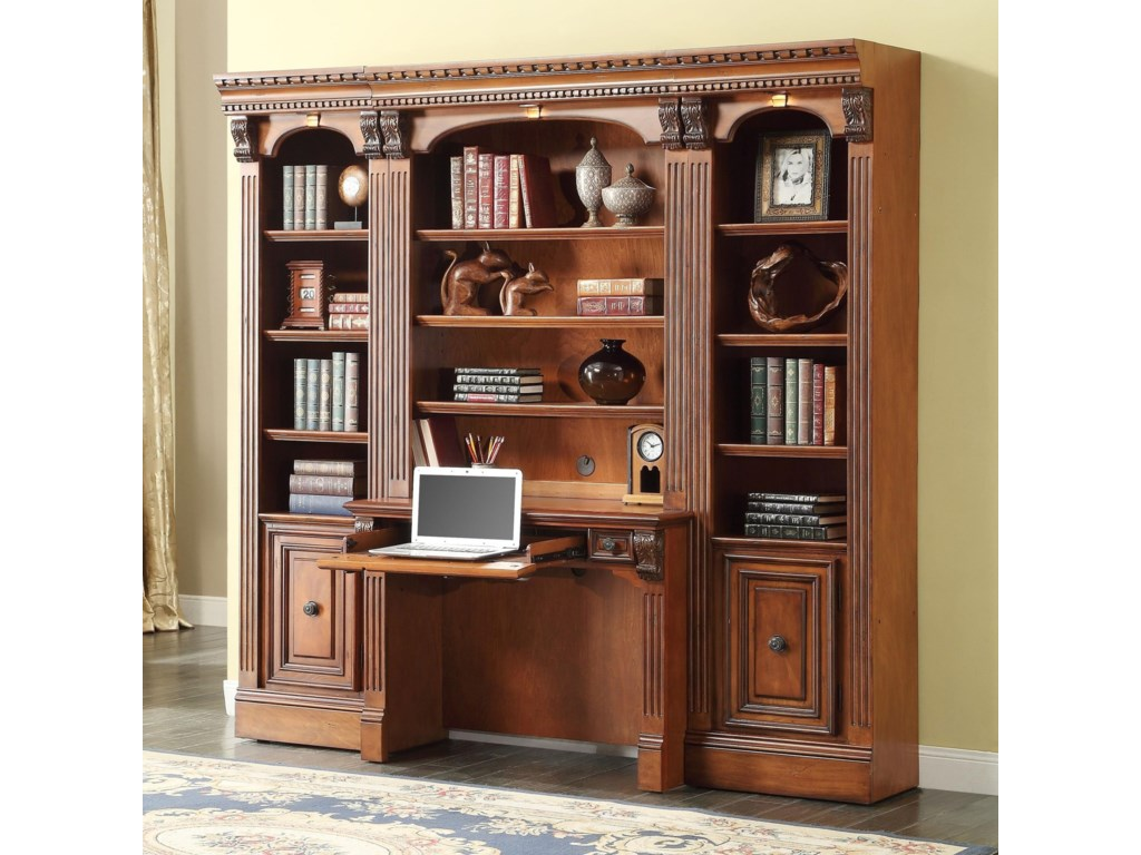 Parker House Huntington Small Bookcase Desk And Hutch Dean