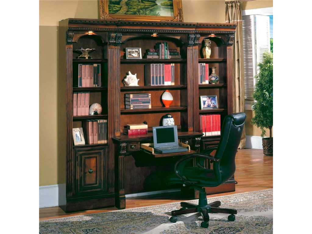Shown with Two 21 Inch Open Top Bookcases