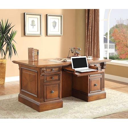 Dbl. Pedestal Executive Desk