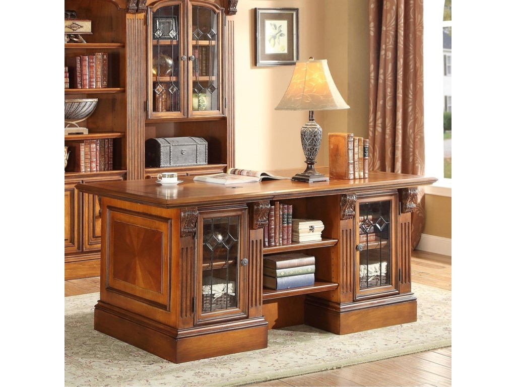 Shown with Two 32 Inch Glass Door Cabinets and One 32 Inch Open Top Bookcase