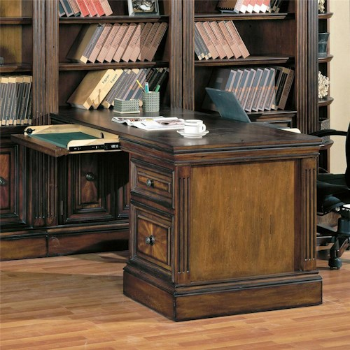 Parker House Huntington Two-Piece Peninsula Desk