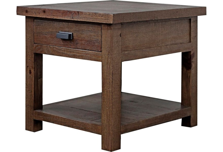 Parker House Lapaz Rustic 1 Drawer End Table Simply Home By Lindy S End Tables