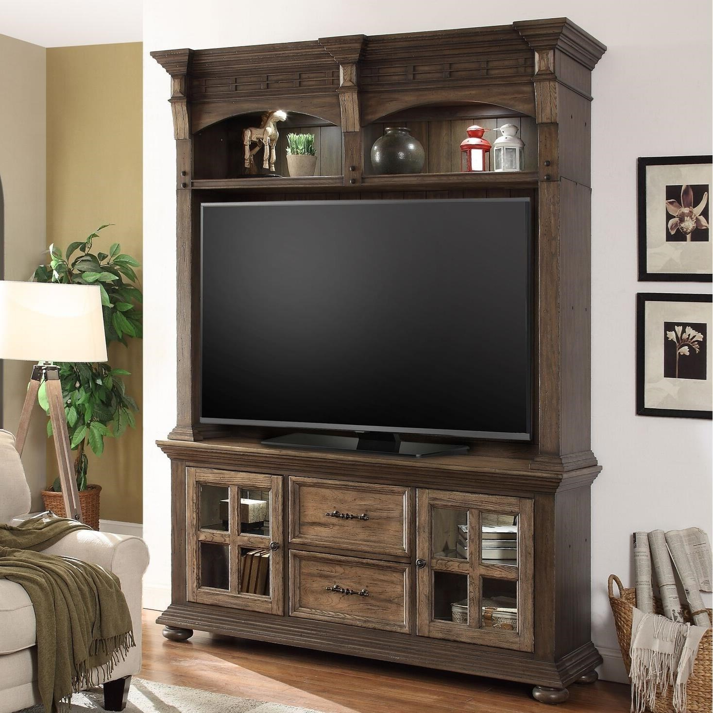Parker House LaredoEntertainment Console And Hutch ...