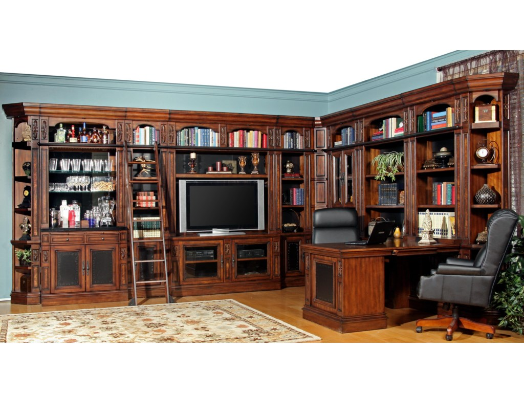 Home Entertainment Furniture Wall Unit Parker House Leonardo Full Library Leonardofull