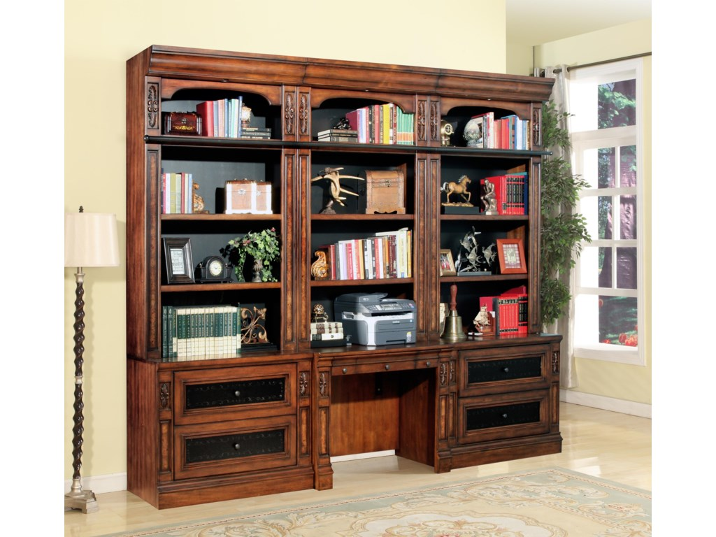 Parker House Leonardo4pc Library Desk and Lateral File