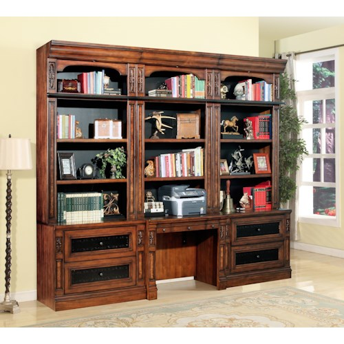Parker House Leonardo 4 Piece Library Desk and Lateral File