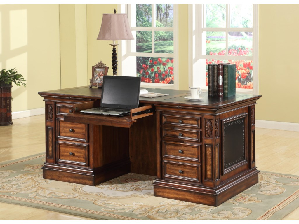 Parker House LeonardoDouble Pedestal Executive Desk