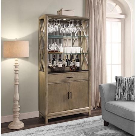 Bunching Bookcase Bar Cabinet
