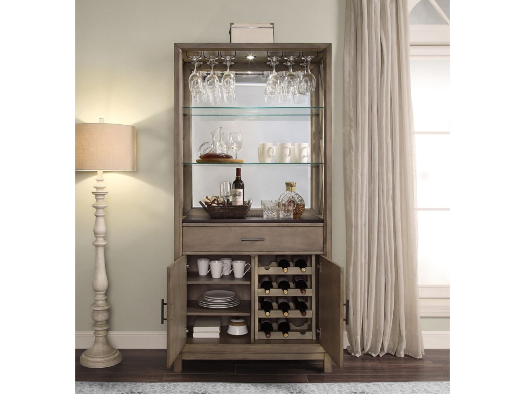 Parker House MidtownBunching Bookcase Bar Cabinet