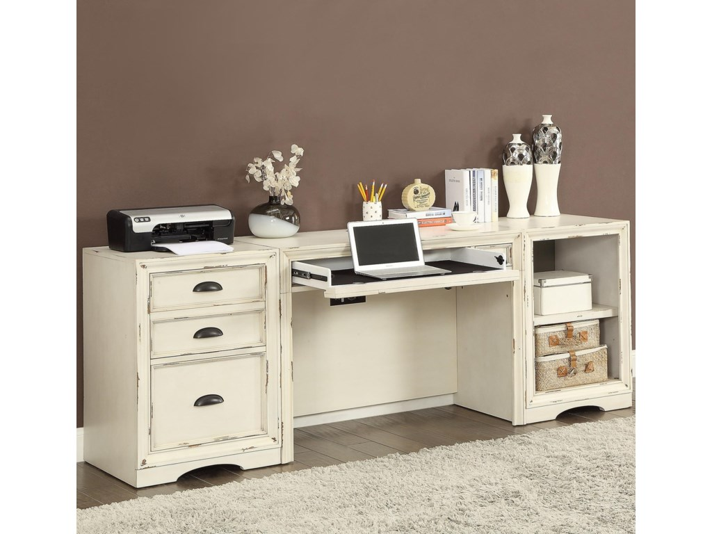 Parker House Nantucket 3 Piece Desk With File Storage